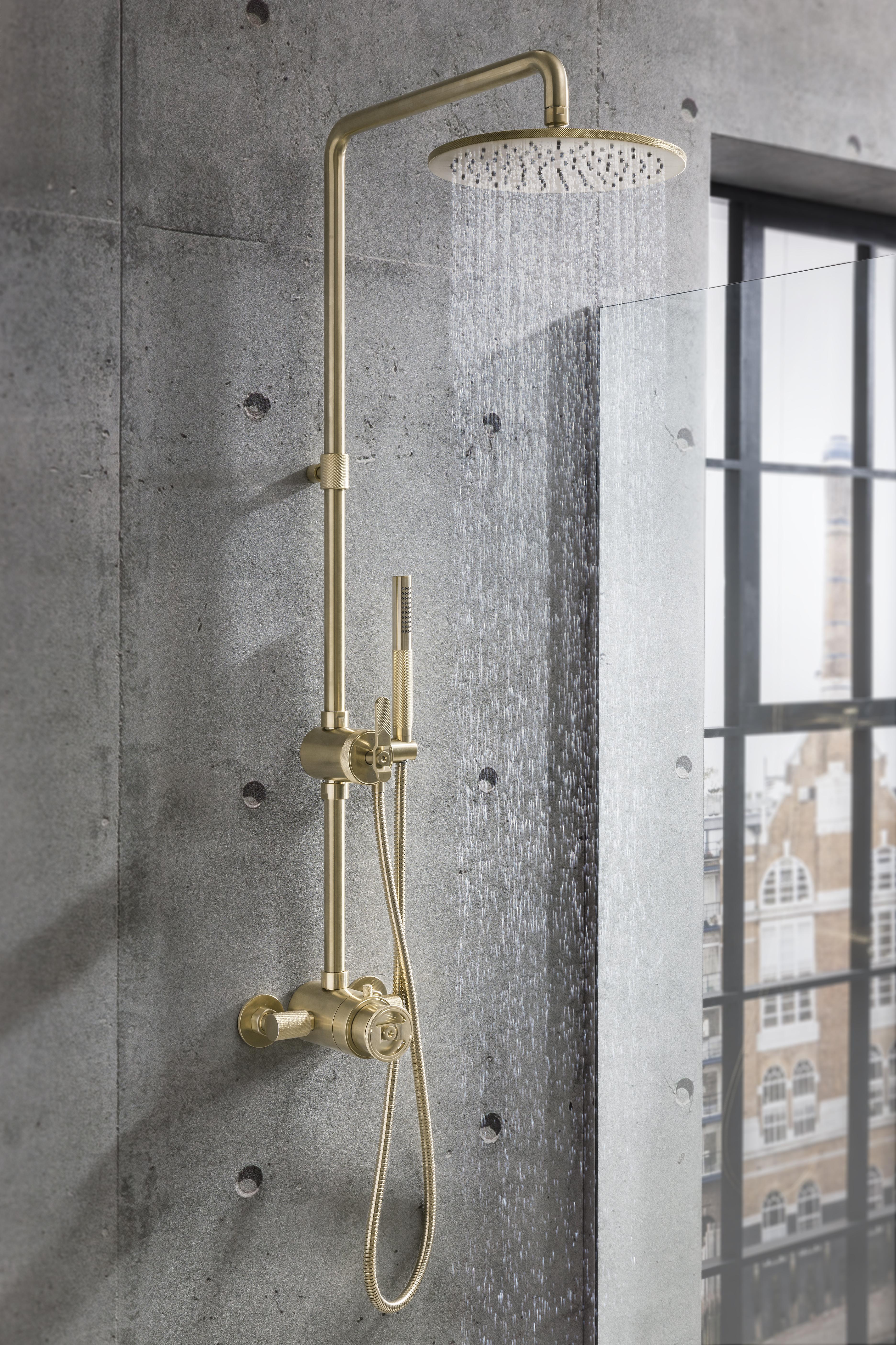 Shower Valve Kit - Brushed Brass A2